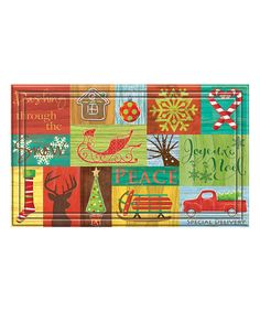 Look at this Nostalgic Xmas Indoor/Outdoor Mat on #zulily today!