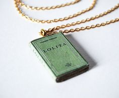 Lolita mini book necklace by Bunnyhell on Etsy, €18.00