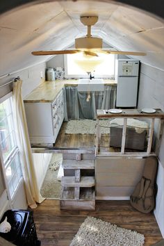 A tiny home made almost exclusively from recycled materials!