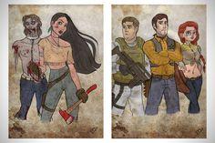 """10 Personajes de Disney en versión """"The Walking Dead""""! … La Sirenita la mejor de todas!"""