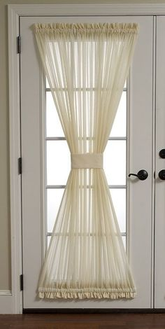 New French Door Decor Ideas Curtains Ideas Blinds For French Doors, French Doors Bedroom, French Door Curtains, Home Curtains, Hanging Curtains, Fringe Curtains, Glass Door Curtains, Hang Curtains Like A Pro, Window Coverings