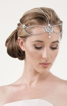 Stephanie Browne headpiece, tiara, forehead, drop jewel