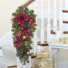 Artificial Christmas Garland Decorations Indoor Xmas Window Decor Swag Hallway   eBay
