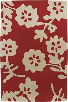 Cow Parade Red Rug