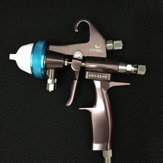 359.00$  Buy now - http://ali716.worldwells.pw/go.php?t=32493931192 - SAT1202 high quality professional chocolate paint sprayer high pressure double nozzle paint spray gun hvlp