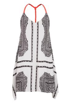 patterned shift dress with hanky hem (original price, $39) available at #Maurices #FlowyStyle