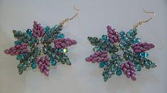 """Earrings """"Cristallo"""" realizzati con superduo by VALENTINAoOo"""