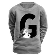 Design sweatshirt with a G as in Groke. Based on Tove Jansson's original illustrations.