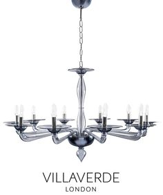 The Luna Murano chandelier – Sculpturally classic yet contemporary, beautifully designed by Claudio Marco and handcrafted with traditional methods in Italy by our experienced craftsmen, exclusive to Villaverde.  The Luna Murano chandelier is available in various sizes and Murano colours. The essence of this unique design is a combination of clean lines and sculptural structure.