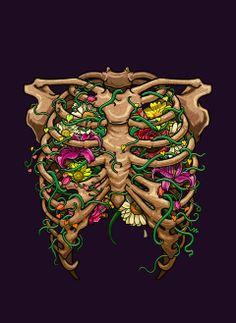 Anatomy Play by Bernard Salunga, via Behance. Art Sketches, Art Drawings, Anatomy Art, Skull And Bones, Dark Art, Illustrations Posters, Art Inspo, Amazing Art, Pop Art