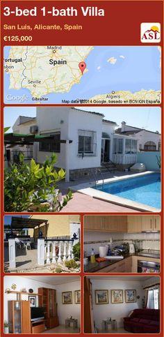3-bed 1-bath Villa in San Luis, Alicante, Spain ►€125,000 #PropertyForSaleInSpain