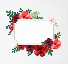 Rose Pattern Floral Texture Concept | premium image by rawpixel.com Flower Background Wallpaper, Flower Backgrounds, Rose Frame, Flower Frame, Flower Graphic Design, Happy Holidays Greetings, Floral Banners, Floral Card, Poster Background Design