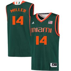 hot sale online aea08 e1d4c 37 Best Miami Hurricanes Basketball Jerseys images in 2018 ...