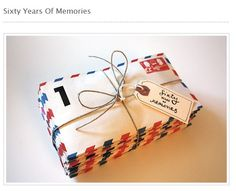 This is a great idea for for a birthday.  This person compiled 60 memories from people from her father's past and put them together in 60 different envelopes and gave them to him on his 60th birthday.  Read the blog post, it'll warm your heart.