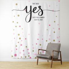 she said yes wedding photo Booth backdrop banner Tapestry - photos gifts image diy customize gift idea Banner Backdrop, Photo Booth Backdrop, Backdrop Stand, Photo Props, Photo Backdrops, Backdrop Background, Photo Booths, Wedding Photo Booth, Wedding Photos