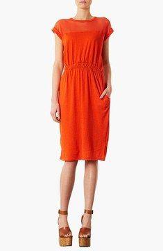 Topshop Mesh Yoke Midi Dress on shopstyle.com