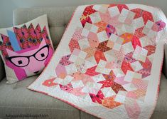 Little Miss :: X-Squared (Twiggy & Opal) Jellyroll Quilts, Mini Quilts, Baby Quilts, Beginner Quilt Patterns, Quilting For Beginners, Quilting Patterns, Quilting Ideas, Quilting Projects, Craft Projects