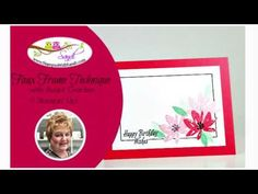 Canadian Stampin UP Demonstrator Sandi MacIver shares Faux Frames with Avant Garden card and video for today's Stamping Techniques 101 challenge Card Tutorials, Video Tutorials, Flower Cards, Creative Cards, Card Templates, Stampin Up Cards, Mini Albums, I Card, Cardmaking