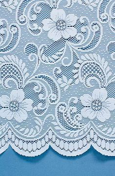 Fairhaven is a traditional net curtain with an intricate floral design. This net curtain is available in white for a clean and airy finish that you'll love.