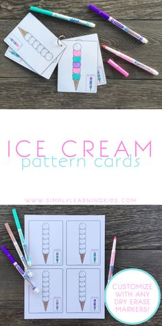 Ice Cream Pattern Cards - Simply Learning