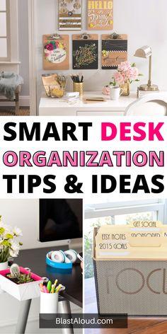 Desk Organization Tips, Creative Storage, Diy Desk, Organizing Your Home, Workspaces, Staying Organized, Declutter, Organizers, Crafting