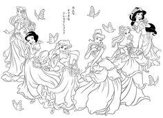 9 Meilleures Images Du Tableau Coloriage Princesse Disney