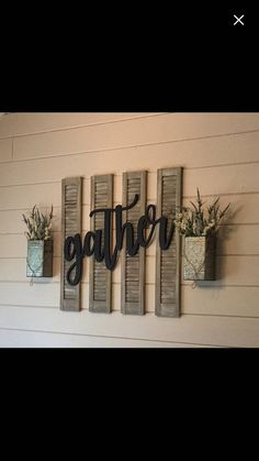This beautiful large farmhouse chic gather sign is made out of birch wood an., Home Decor, This beautiful large farmhouse chic gather sign is made out of birch wood and measures approximately 16 tall x 36 wide. It comes painted or staine. Southern Farmhouse, Farmhouse Remodel, Farmhouse Decor, Rustic House, Farmhouse Chic, Handmade Home, Farm House Living Room, Rustic Decor, Home Decor