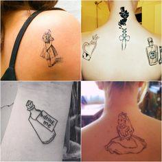 Chuva de Jujubas: Inspire-se: Tatuagens de Alice no País das Maravilhas