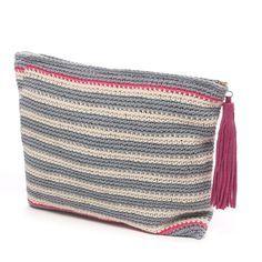 Laugoa crochet clutch bag