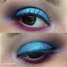 our eyeshadow pigment in 'graffiti' was used i this look.