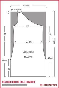 Vestido de un solo hombro . | one shoulder dress...looks easy enough