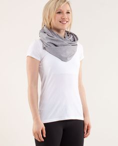 Vinyasa Scarf - ingenious. Can be worn as cap sleeve shirt, halter top, blanket, or a scarf wrapped a ton of different ways.