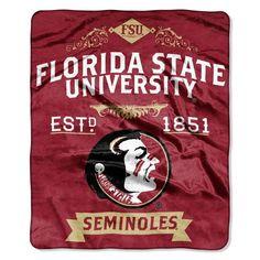 Florida State Seminoles Blanket 50x60 Raschel Label Design Z157-8791821907