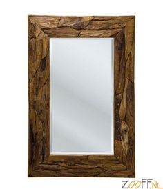 Kare Design Nature Spiegel - De Kare Design Nature Spiegel is een sfeervolle design spiegel met een natuurlijke uitstraling. De rand van de rechthoekige spiegel is gemaakt van teakhout en deze design spiegel is ideaal te gebruiken in combinatie met de andere design meubels uit de Nature Line serie die wij in ons assortiment hebben opgenomen.