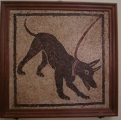 """Look! """"Beware of Dog"""" Mosaics from Pompeii"""