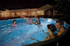 Pool Party Light Led Underwater Swimming Lighting Accessories Intex Above Ground for sale online Swimming Pool Lights, Night Swimming, Above Ground Swimming Pools, Swimming Pool Designs, In Ground Pools, Pool At Night, Pool Fun, Above Ground Pool Lights, Best Above Ground Pool
