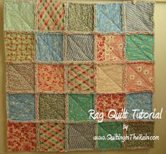 This Rustic Rag Quilt is the perfect size to keep your baby warm while you push them in a stroller. You can learn how to make this rag quilt in just 6 steps!