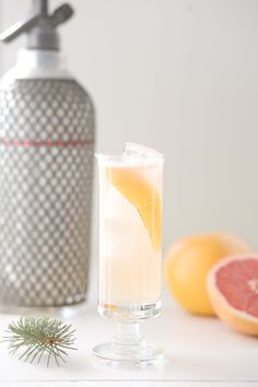THE NEW DEAL -   1 1/2 oz. Gin  1/2 oz. Pine Needle Syrup*  1/2 oz. Grapefruit Soda**  1/4 oz. St. Germain     *Pine Needle Syrup  bunch of pine needles that have been cleaned and dried  infuse needles into a simple syrup over the stove  let cool