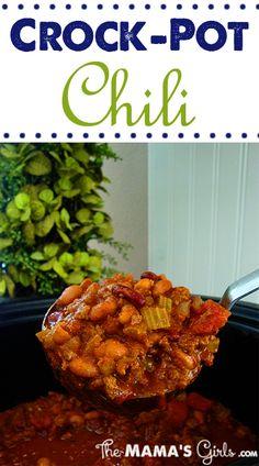 Crock Pot Chili! So easy! So good!
