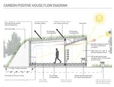 section through carbon positive house