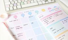 Planning-pastel Semaine & Journée