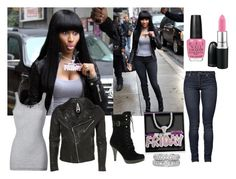 """Inspired Outfit: Nicki Minaj"" by drakefan11 ❤ liked on Polyvore featuring Nicki Minaj, OPI, MAC Cosmetics, Vince, Cheap Monday, GUESS and Tiffany & Co."
