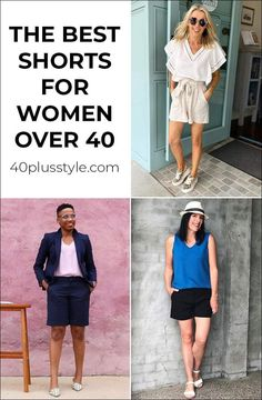 Shorts add to your style because they can be elegant and modern. Here are ideas to wear the best women's shorts that fit and flatter the woman. Pear Shaped Women, Fashion For Women Over 40, Comfortable Fashion, Capsule Wardrobe, Amazing Women, Casual Outfits, My Style, Women's Shorts, Womens Fashion