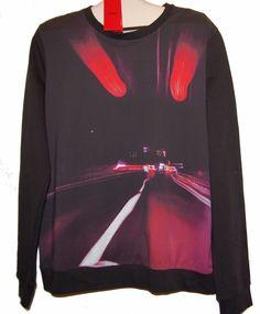 Hugo Boss Black Red Long Sleeve Men's Crewneck Cotton Shirt Top Sweater Size XL  #HugoBoss #LongSleeve