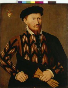 Portrait of a man from Rindtorf, unknown artist, paint on panel, c. 1560, northern German.