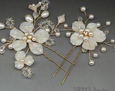 Bridal Hair Pins Wedding Hair Clips Bridal Hair by adriajewelry
