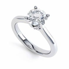 A beautiful diamond engagement ring in 18ct white gold with a four prong claw. Featuring a stunning single round brilliant diamond to maximise sparkle. Ring profile: Court #engagement #diamond #ring #roundbrilliant #singlestone #solitaire #sparkle #jewellery