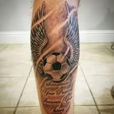Image result for tatuajes de balones de futbol 3d