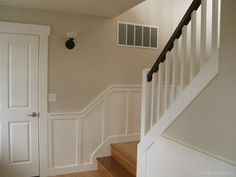 stairs and wainscotting