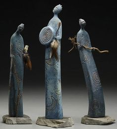 Kate Gardiner love simple sculpture like these - so emotive with an economy of lines! Art Sculpture, Abstract Sculpture, Ceramic Sculpture Figurative, Ceramic Sculptures, Ceramic Figures, Clay Figurine, Art Carved, Human Art, Ceramic Clay